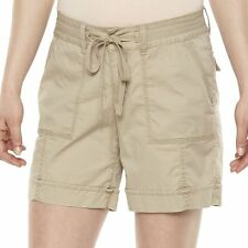Sonoma Goods for Life Belted Mid Rise Beige Khaki Shorts NWT
