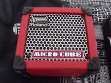 Roland Micro Cube Guitar Amp, Red - Battery Powered Busker Amp with FX