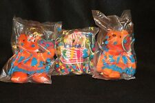 Avon Kids All American Bear & Bernard Bear Orange Bag of Beans NEW VINTAGE seal