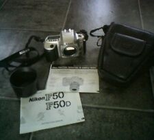 Nikon F50 35mm SLR Film Camera Body Only, With Case &  Lens Hood !