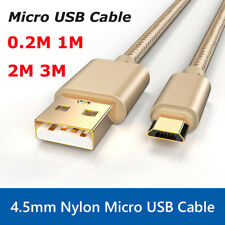 0.2/1/2/3M Gold plug 3A Fast Micro USB Sync Data Charger Cable For Android Phone