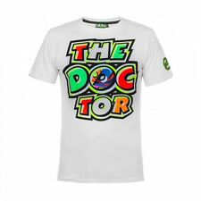 VR46 Official Valentino Rossi The Doctor Motorcycle Motorbike T-shirt - White