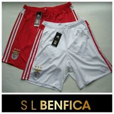 Benfica Mens Home Away Football Shorts White Red SLB adidas Team Short Small NEW
