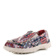 Boys Kids Dude Farty Incas Red Slip On Loafers Shoes  Size