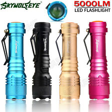 5000LM Super Brillante CREE Q5 AA/14500 3 Mode torcia luce flash LED ZOOMABLE