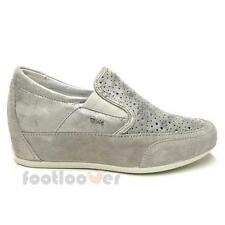 Scarpe Igi&Co Classic Sneaker Wedge 77400 00 Donna Suede Slip on Pearl Made in I