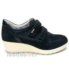 Scarpe Igi&Co Sneaker Wedge 77595 00 Donna Suede Canvas Sport Blue Made in Italy