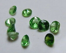Lot of 10 Rare Natural Untreated Tsavorite Green Garnet Accent Gems - USA Seller