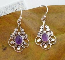 Gemstone Solid Silver, 925 Balinese Traditional Design Earring 39077