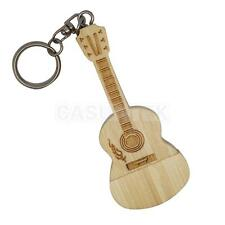 Wooden Guitar Model Retro USB Flash Memory Stick Drive Storage Thumb U Disk