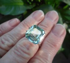 IMAGINATION 9.15 ct  VVS1 12.80x11.90mm  ICY WHITE TEAL LOOSE EMERALD MOISSANITE