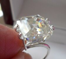 SUBERB!  5.62 ct  VS1 9.73x9.56mm ICY SUNNY WHITE LOOSE EMERALD MOISSANITE