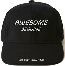 AWESOME BEGUINE PERSONALISED BASEBALL CAP HAT XMAS GIFT