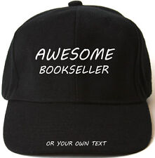 AWESOME BOOKSELLER PERSONALISED BASEBALL CAP HAT XMAS GIFT