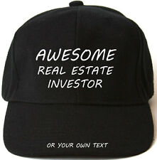 AWESOME REAL ESTATE INVESTOR PERSONALISED BASEBALL CAP HAT XMAS GIFT