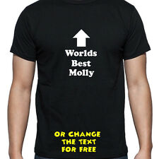 PERSONALISED WORLDS BEST MOLLY T SHIRT BIRTHDAY GIFT