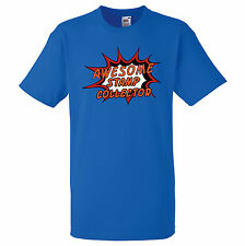 AWESOME STAMP COLLECTOR PERSONALISED COMIC BOOK PRINT T SHIRT