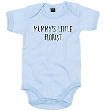 FLORIST BODY SUIT PERSONALISED MUMMY'S LITTLE BABY GROW NEWBORN GIFT