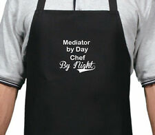 PERSONALISED MEDIATOR BY DAY CHEF BY NIGHT APRON XMAS BIRTHDAY GIFT