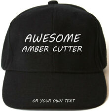 AWESOME AMBER CUTTER PERSONALISED BASEBALL CAP HAT XMAS GIFT