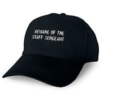 BEWARE OF THE STAFF SERGEANT PERSONALISED BASEBALL CAP STAFF SERGEANT XMAS GIFT