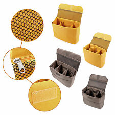DSLR Camera Insert Partition Yellow/Coffee Inner Padded Protective Case Bag