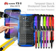 For Huawei Y3 II / Y3 2 / 2nd Gen Shockproof Rugged Strong Case Cover,Glass &Pen
