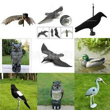 Realistic Hunting Crow Decoy Weed Pest Control Garden Scarer Scarecrow Ornament