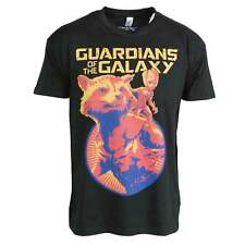 UFFICIALE Guardians of the Galaxy vol. 2 Rocket e Groot UOMO TSHIRT NERO