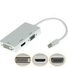 Thunderbolt Mini Display Porta DP a HDMI DVI VGA Cavo Adattatore Per Apple