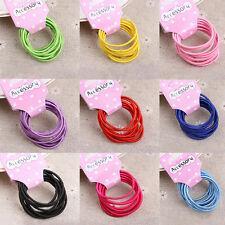 20Pcs Kids Girls Elastic Hair Rope Ponytail band ties hair accessories Pop SG