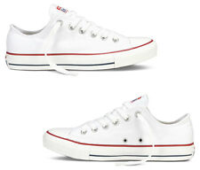 SCARPE CONVERSE ALL STAR CHUCK TAYLOR OX WHITE DONNA BIANCHE BASSE CANVAS SHOES