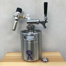 CERVEZA MINI BARRIL Growler METAL GRIFO Co2 Regulador Escoge tamaño de