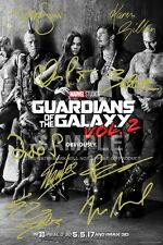 GUARDIANS OF THE GALAXY POSTER PHOTO VOLUME 2 12X8 SIGNED PP CAST AUTOGRAPH GIFT