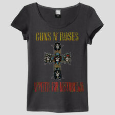 Amplified Guns N Roses Appetite For Destruction T-Shirt - Women Damen Band Shirt