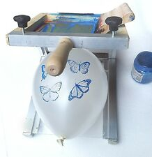 Balloon printing machine. Also T-shirts and serviettes