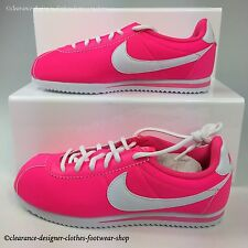 NIKE CORTEZ NYLON GS TRAINERS WOMENS PINK CLASSIC RETRO CASUAL SHOE RRP £60