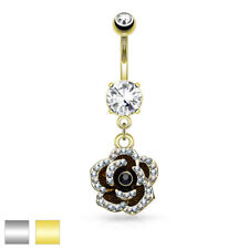 Belly Button Piercing Navel Banana Made of Stainless Steel Flower