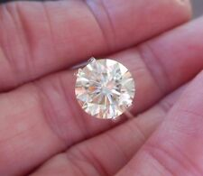 DAZZLING!  3.49 CT VVS1 10.00 mm ICY CANARY SUNNY WHITE LOOSE ROUND MOISSANITE