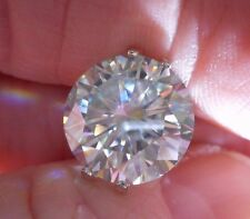 BREATHTAKING  6.52 CT VS1 12.45 mm ICY WHITE COLOR i-J LOOSE ROUND MOISSANITE