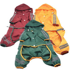 TY Dual Reflective Pet Raincoat Dog Clothes Waterproof Rain Jacket For Rainy Day