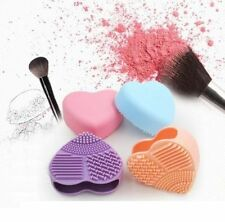 Makeup Foundation Brush Cleaner Cosmetic Cleaning Silicon Heart  Scruber Glove