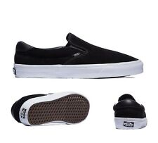 Mens Vans Classic Slip On 59 Suede Black/White Trainers RRP£51.99 (.PRFW1)