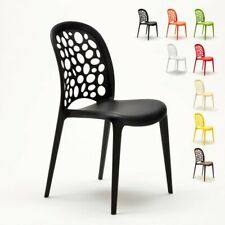 Chaise Cuisine café bar restaurant jardin polypropylène empilable Design WEDDING