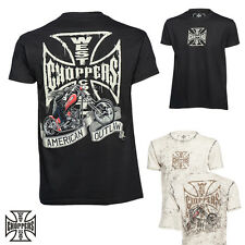 WEST COAST CHOPPERS Hombres Camiseta MOTO Perro Camisa MOTORISTA CUSTOMS S hasta