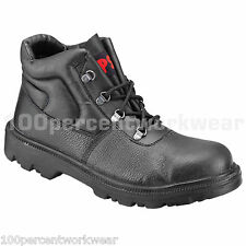 PSF Strata 540SM Mens Black Leather Safety Work Chukka Boots Shoes Steel Toe Cap