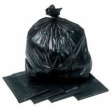 10/25/50 HEAVY DUTY 140G BLACK REFUSE SACK BIN LINER GARDEN BAG 18x29x39 PEGASUS