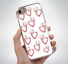 CUTE ENTWINED HEARTS Rubber Phone Case Cover Fits Iphone (TR)