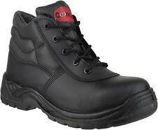 Centex Fs30c Men's Formal Black Leather Non-metal Toe Cap Ankle Safety Boots New