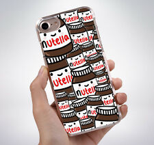 NUTELLA JAR CUTE COLLAGE CHOCOLATE Hard Phone Case Cover Fits Iphone (TH)